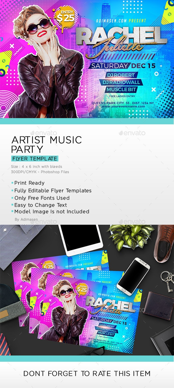 Artist Music Party Flyer - Clubs & Parties Events