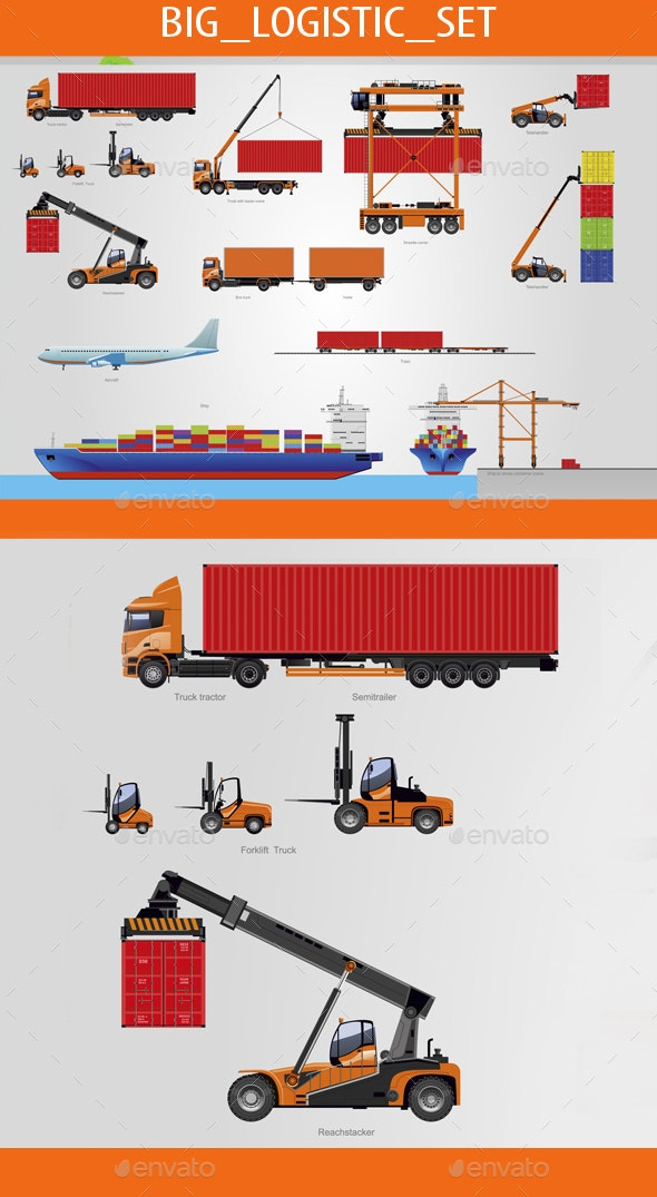 Big Logistic Set - Man-made Objects Objects