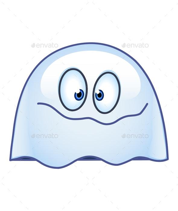 Ghost Emoticon - Halloween Seasons/Holidays