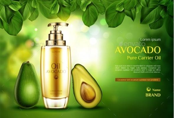 Cosmetics Oil Avocado - Health/Medicine Conceptual