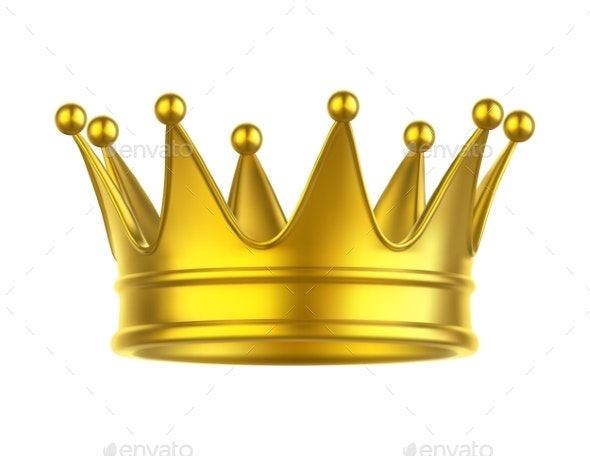 Icon of Queen or King Crown - Man-made Objects Objects