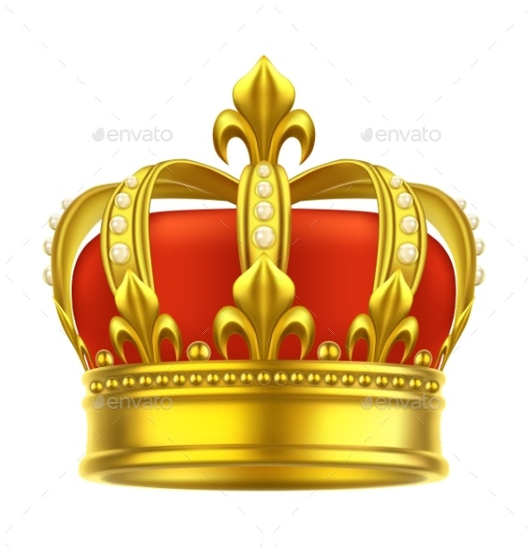 Heraldic Crown Icon - Man-made Objects Objects