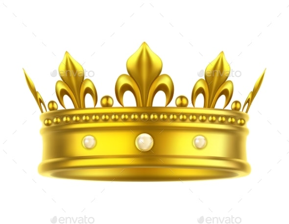 Golden Isolated Headdress or Crown - Man-made Objects Objects