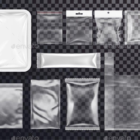 Realistic Plastic Pocket Bag Mockup