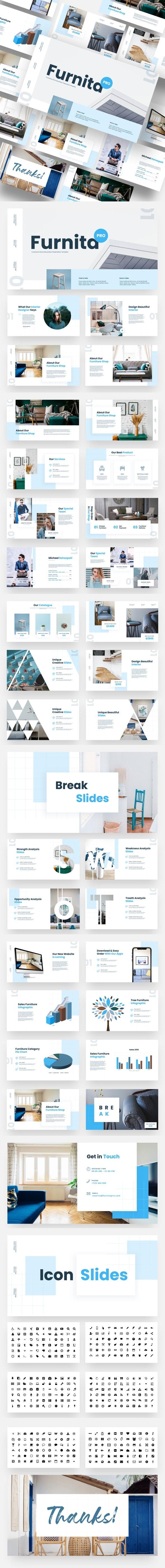 Furnita Pro - Furniture & Home Decoration Keynote Template - Business Keynote Templates