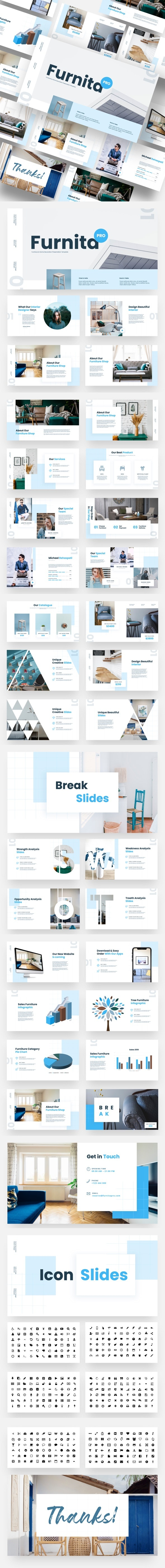 Furnita Pro - Furniture & Home Decoration Google Slides Template - Google Slides Presentation Templates