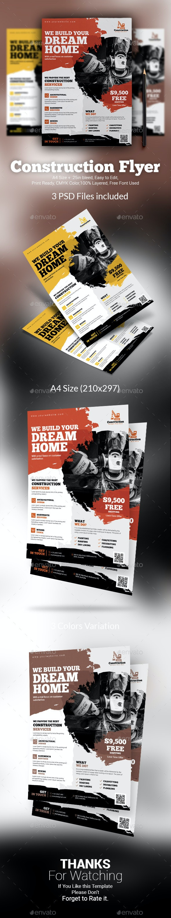 Construction Flyer Template - Commerce Flyers