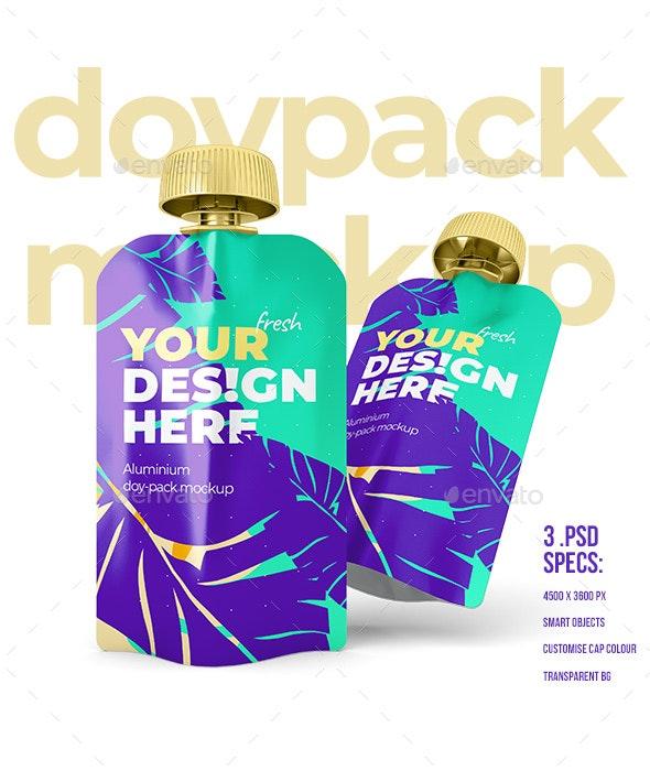 Doypack - Mockup - Metallic - Food and Drink Packaging