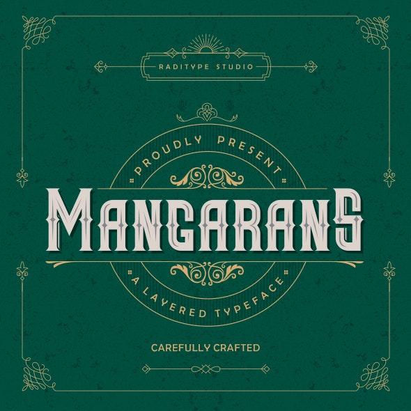 Mangarans - Layered Typeface - Gothic Decorative