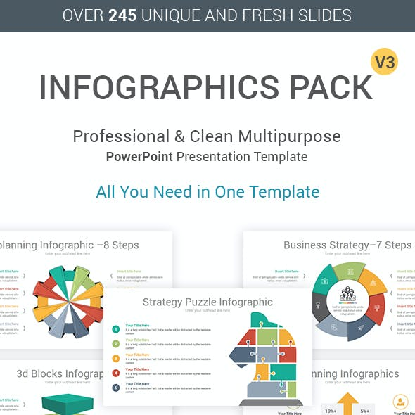 Infographics Pack PowerPoint Template V3