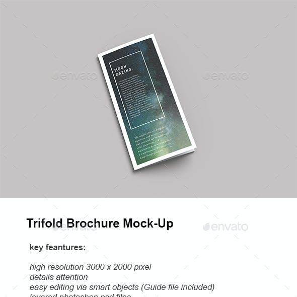 Minimal Trifold Brochure PSD Mockups