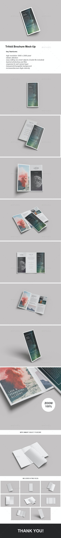 Minimal Trifold Brochure PSD Mockups - Brochures Print