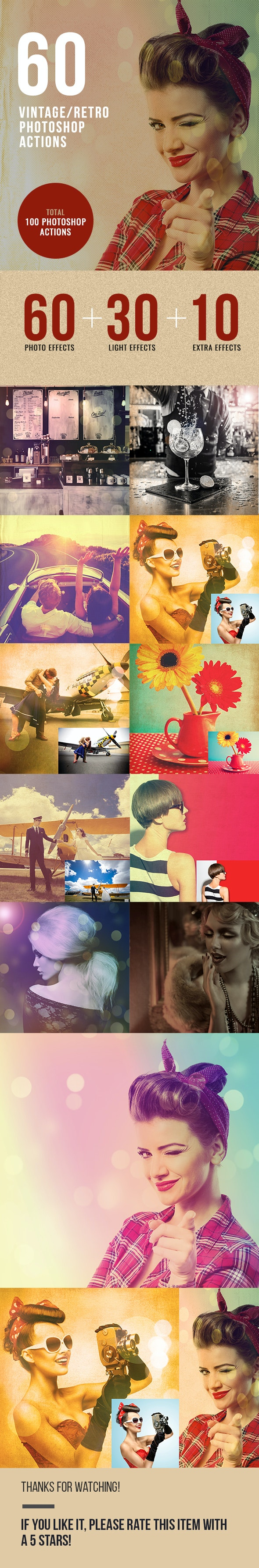 60 Retro / Vintage Photo Effects - Photo Effects Actions