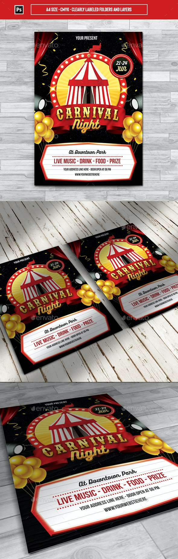 Carnival Night Flyer Template - Events Flyers