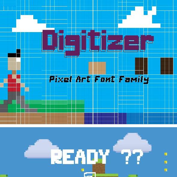 Digitizer - Pixel Font Family
