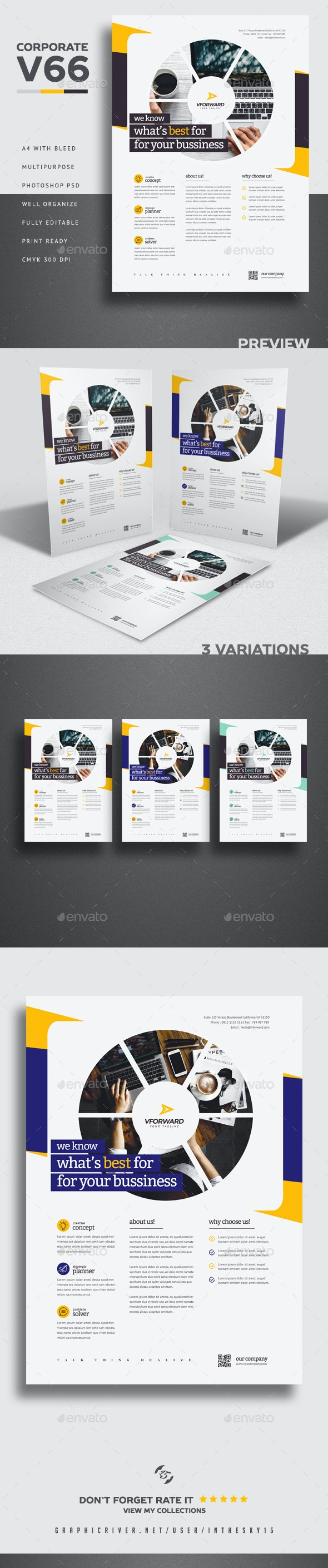 Corporate V66 Flyer - Corporate Flyers