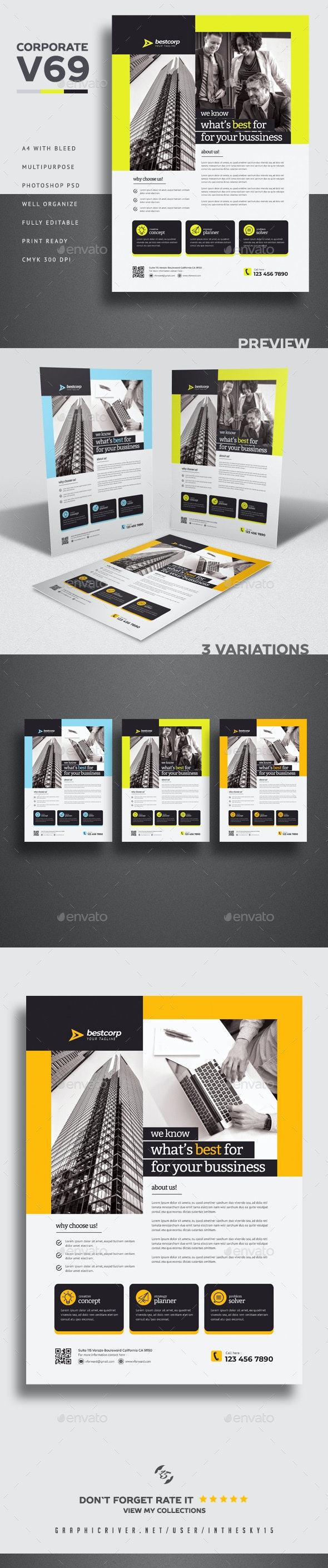 Corporate V69 Flyer - Flyers Print Templates