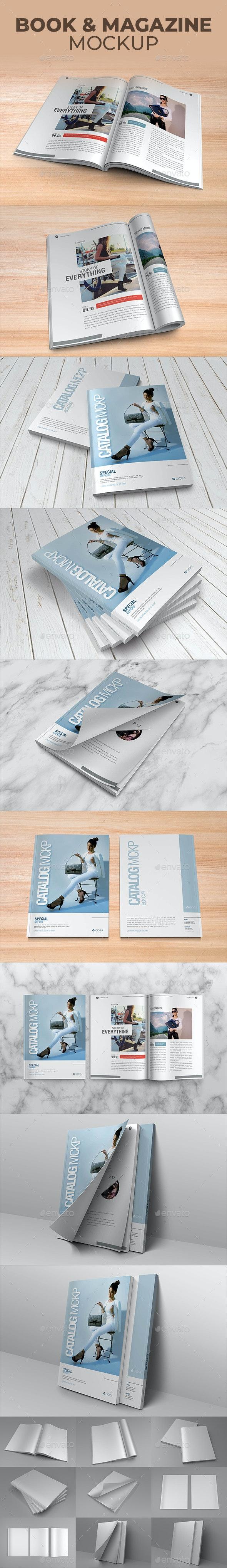 Book & Magazine Mockup - Books Print