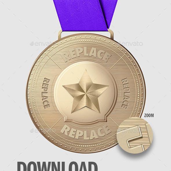 Medal .PSD Mockup V2 - Metal of Honor