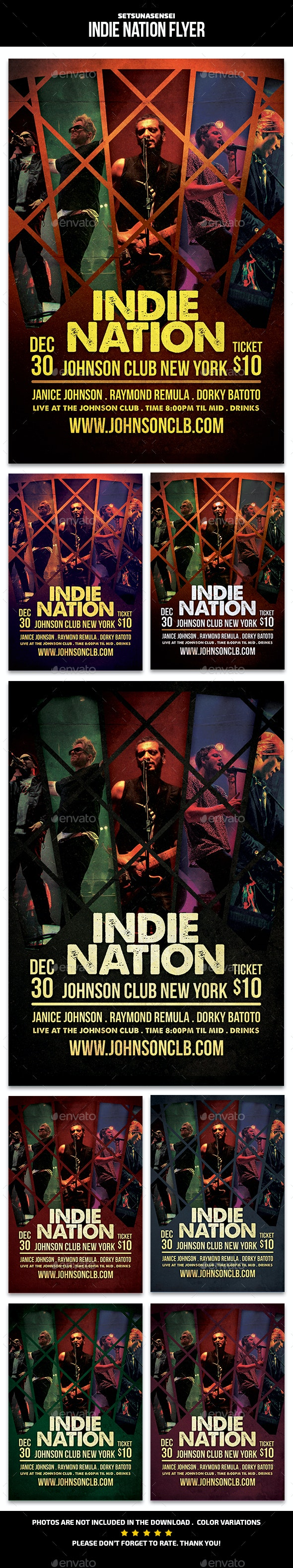 Indie Nation Flyer - Events Flyers