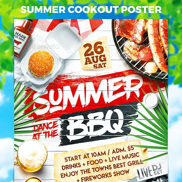 Summer Cookout Party Poster vol.2