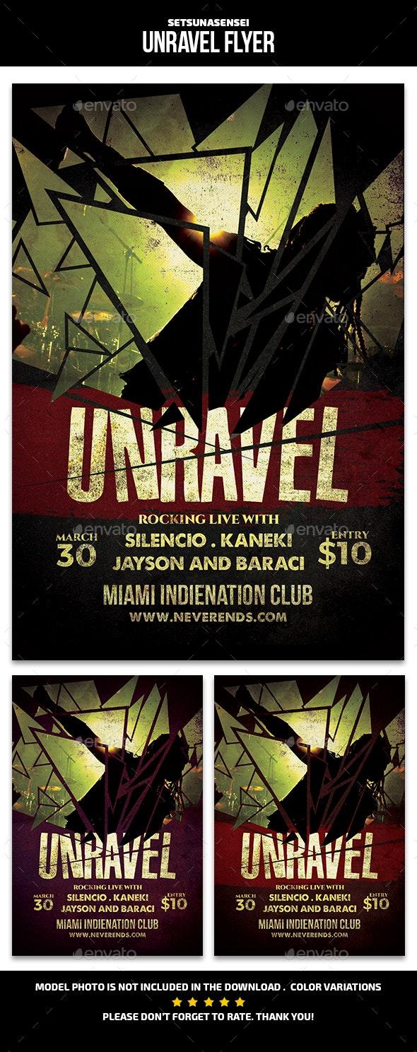 Unravel Flyer - Concerts Events