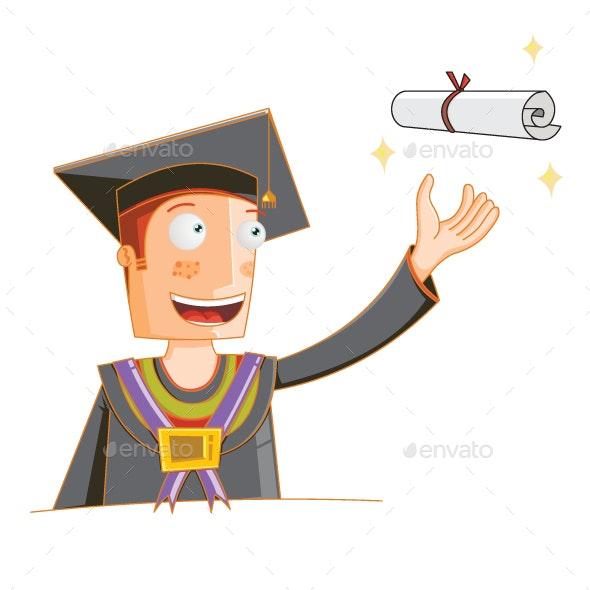 Concept of a Student Receiving His Degree - Miscellaneous Conceptual