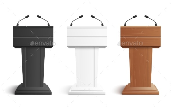 Stage Stand or Debate Podium Rostrum - Man-made Objects Objects