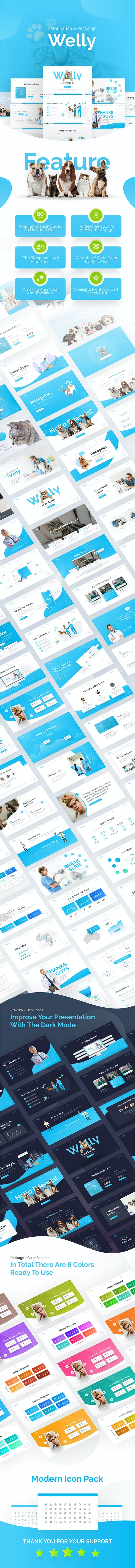 Welly Veterinary PowerPoint Template - PowerPoint Templates Presentation Templates