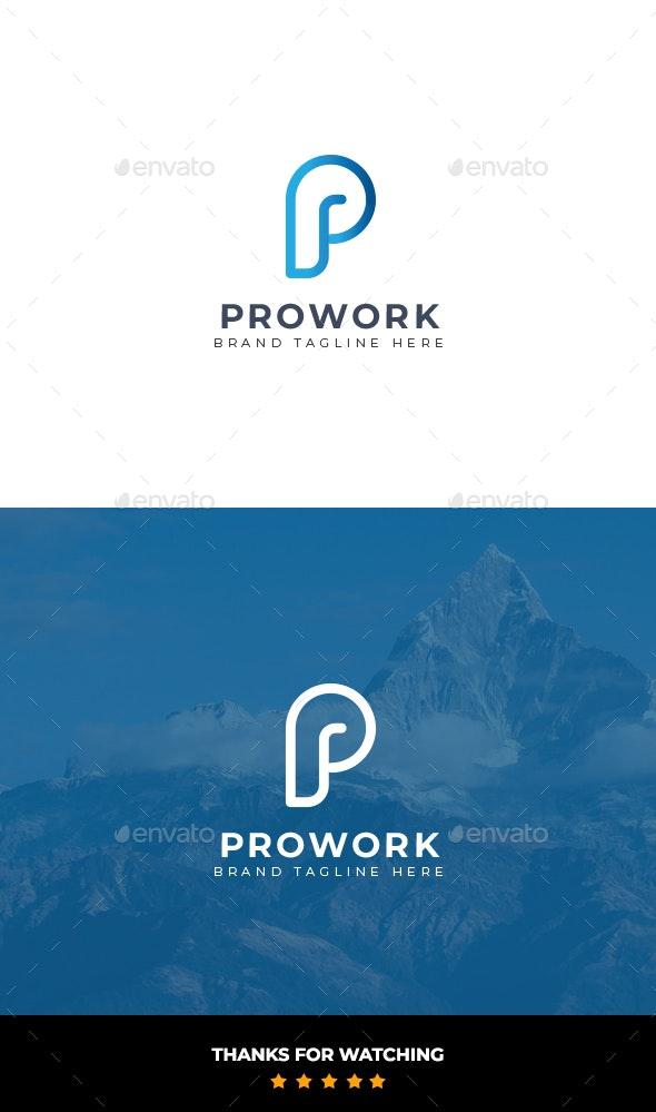 Prowork Logo - Letters Logo Templates