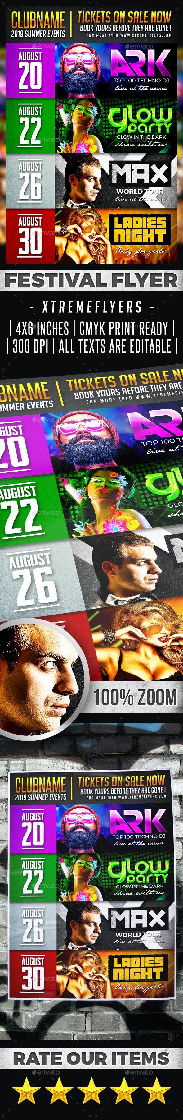 Festival Schedule Flyer