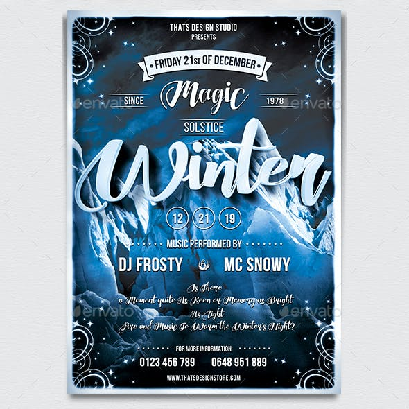 Winter Season Flyer Template V1