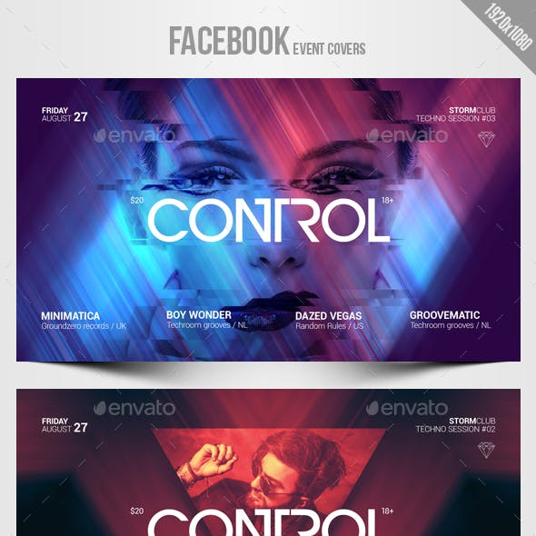 Electronic Music Party 10 - Facebook Event Cover Templates