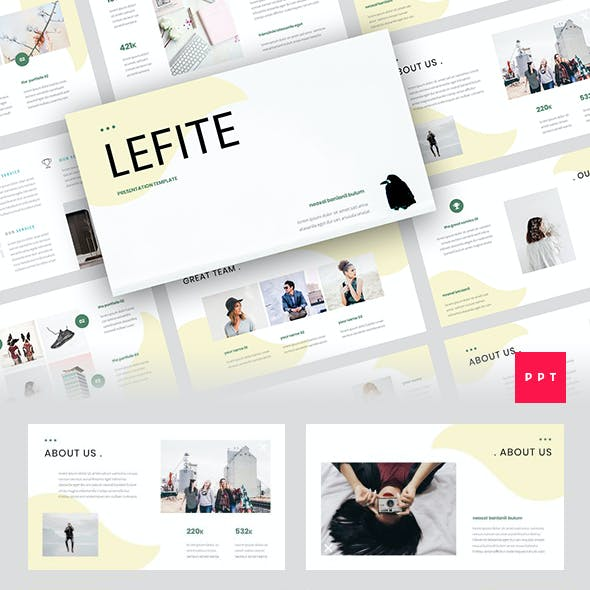 Lefite - Magazine & Creative PowerPoint Template