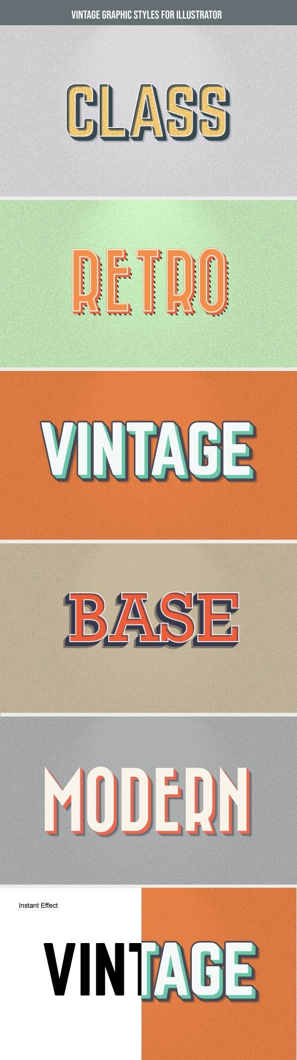 Vintage GraphicStyles for Illustrator - Styles Illustrator