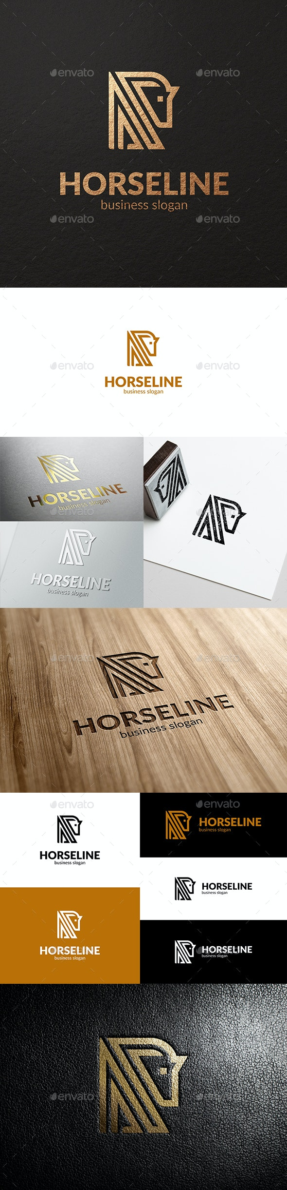 Horse Line Abstract Business Logo - Vector Abstract