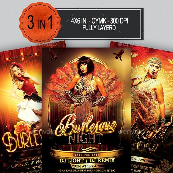Burlesque Flyer Bundle