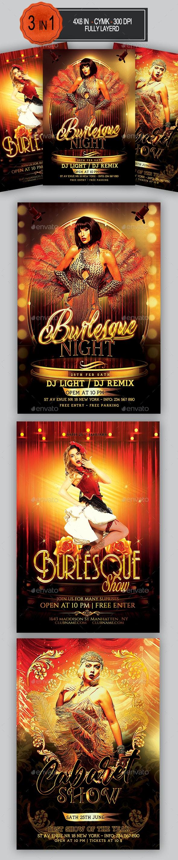Burlesque Flyer Bundle - Clubs & Parties Events