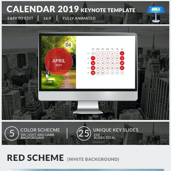 Calendar 2019 Keynote Presentation Template