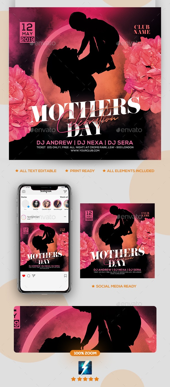 Mother's Day Flyer - Holidays Events