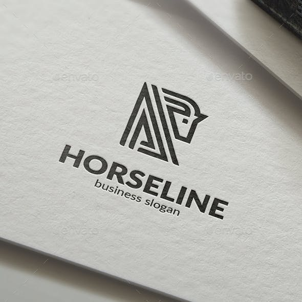 Horse Line Abstract Business Logo v2
