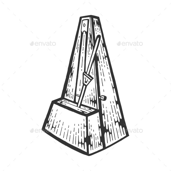 Metronome Tool Engraving Vector Illustration - Miscellaneous Vectors