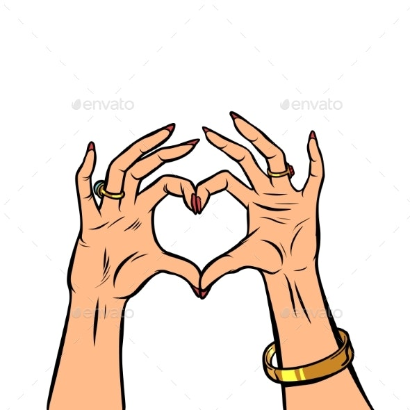 Woman Hands Gesture Heart Love Romance Valentine - People Characters