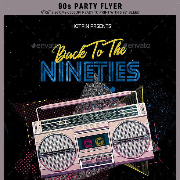 90s Retro Party Flyer