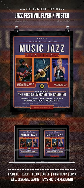 Jazz Festival Flyer / Poster - Concerts Events