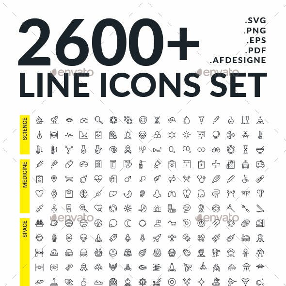 Big line icons set