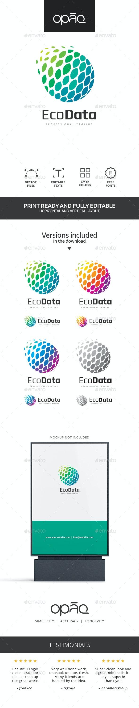 Data Leaf Globe Logo - Abstract Logo Templates