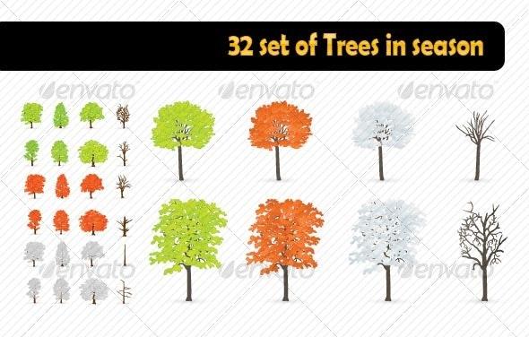 Trees in season - Miscellaneous Seasons/Holidays