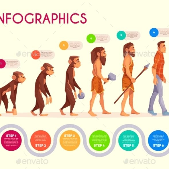 Human Evolution Infographics Time Line Transform