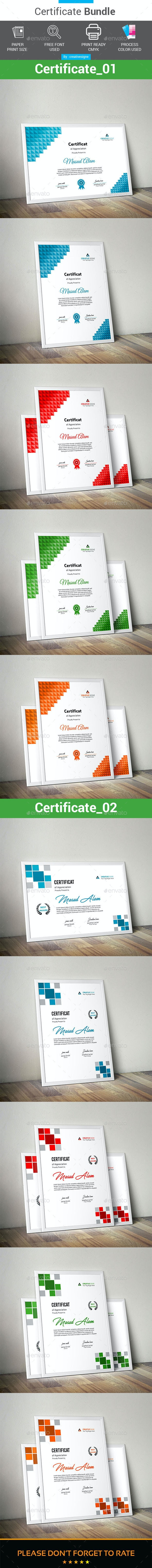 Certificate Bundle 2 in 1 - Stationery Print Templates